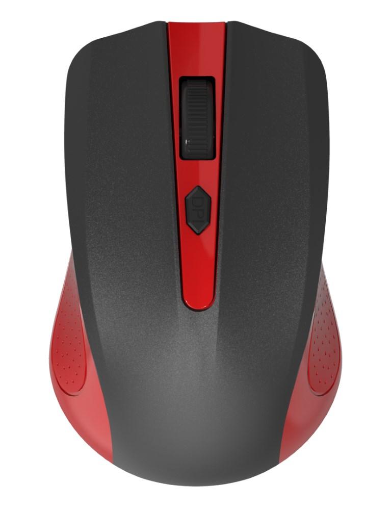 POWERTECH Wireless Mouse, Οπτικό, 1600 DPI, μαύρο-κόκκινο - POWERTECH 11692