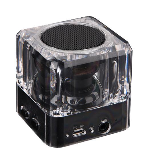 POWERTECH Bluetooth Speaker, Portable, 3W, Led Light, Black - POWERTECH 12065