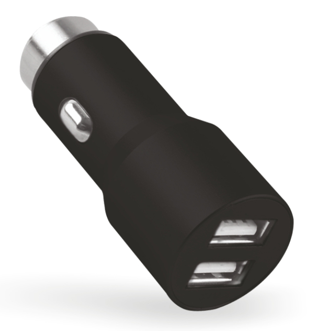 POWERTECH Φορτιστής Αλουμινίου Αυτοκινήτου PT-421, 2x USB, 3.1A, Black - POWERTECH 14585