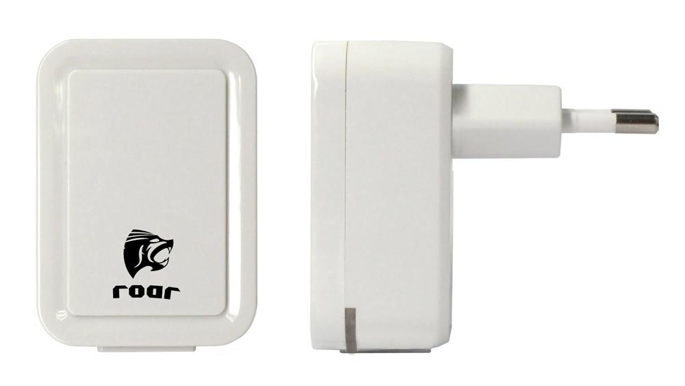 ROAR Φορτιστής PT-495, 2x USB, 2.1A, λευκός - ROAR 15715