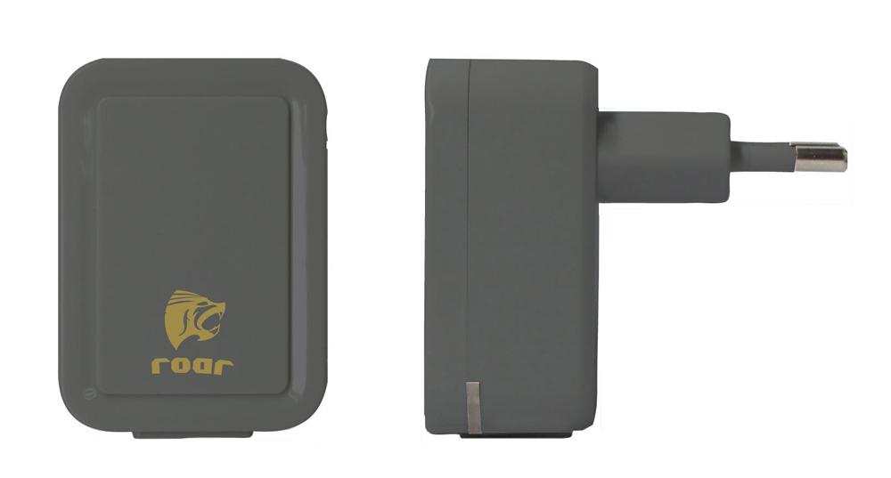 ROAR Φορτιστής PT-500, 2x USB, 2.1A, Black - ROAR 15716