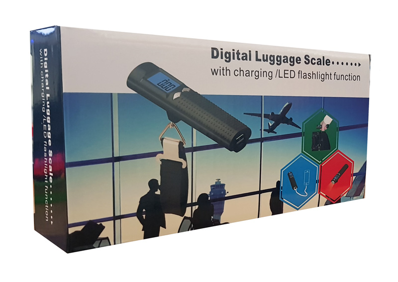Gadget 3 in 1 Ηλ. Ζυγαριά αποσκευών, Power Bank, Φακός, με LCD οθόνη - BULK 17409
