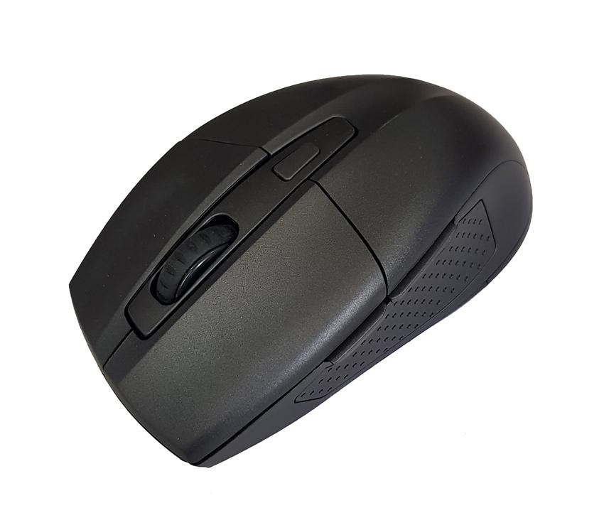 POWERTECH Ασύρματο ποντίκι PT-598, Οπτικό, 1600DPI, 6 πλήκτρα, μαύρο - POWERTECH 18561