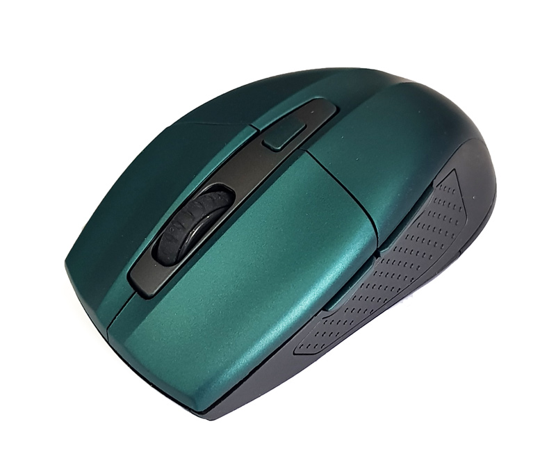 POWERTECH Ασύρματο ποντίκι PT-599, Οπτικό, 1600DPI, 6 πλήκτρα, πράσινο - POWERTECH 18562