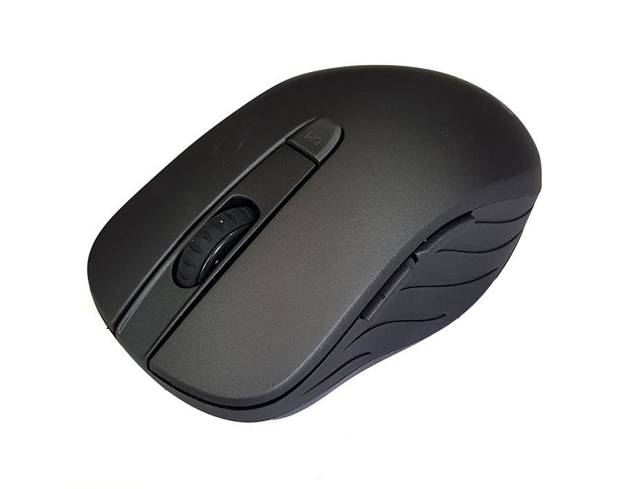 POWERTECH Ασύρματο ποντίκι PT-601, Οπτικό, 1600DPI, 6 πλήκτρα, μαύρο - POWERTECH 18564