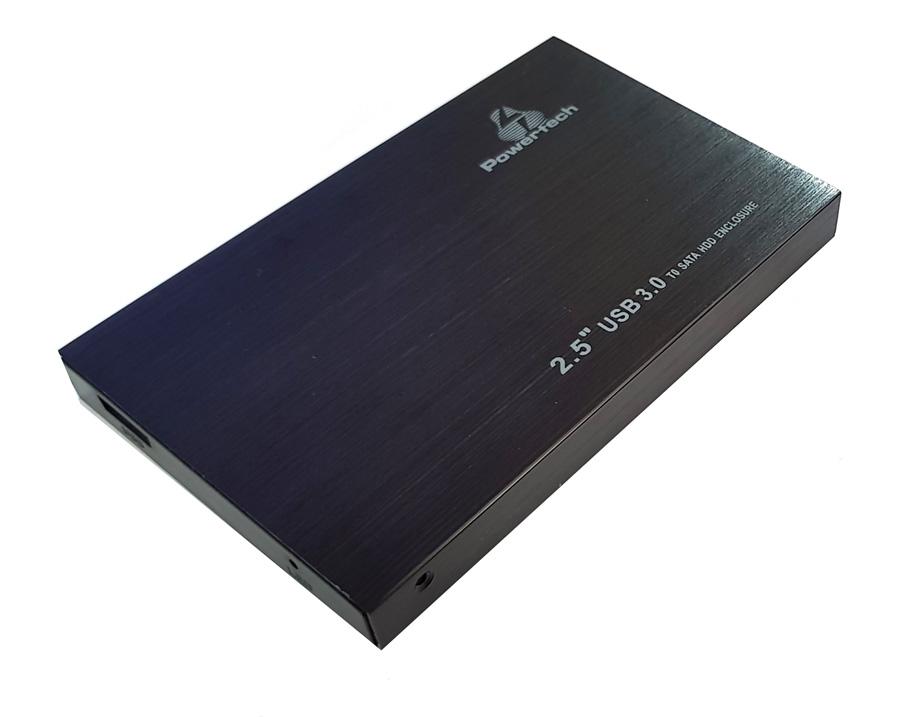 "POWERTECH Εξωτερική θήκη για HDD 2.5"", SATA III, USB 3, up to 2TB, Μαύρη - POWERTECH 17924"
