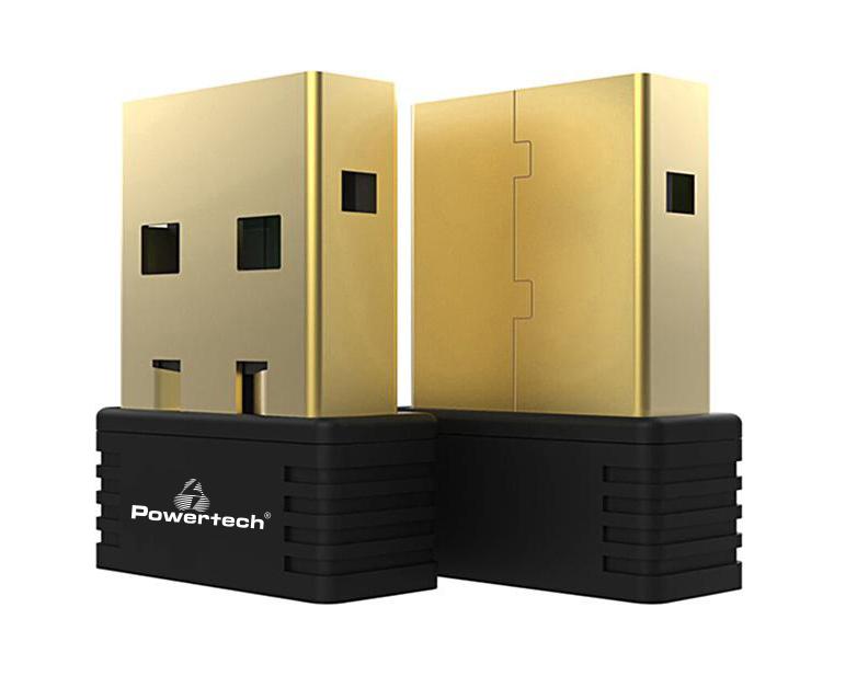 POWERTECH Wireless USB nano adapter, 150Mbps, 2.4GHz, MT7601 - POWERTECH 20002
