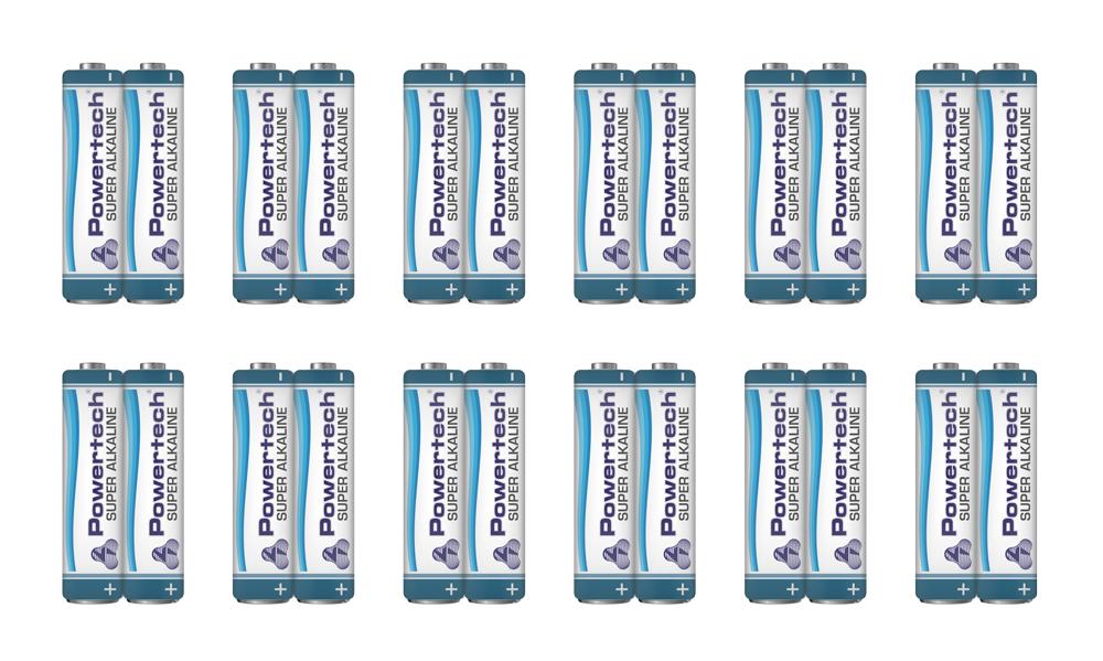 POWERTECH Super Αλκαλικές μπαταρίες AAA LR03 PT-715, 12x 2τμχ - POWERTECH 23482