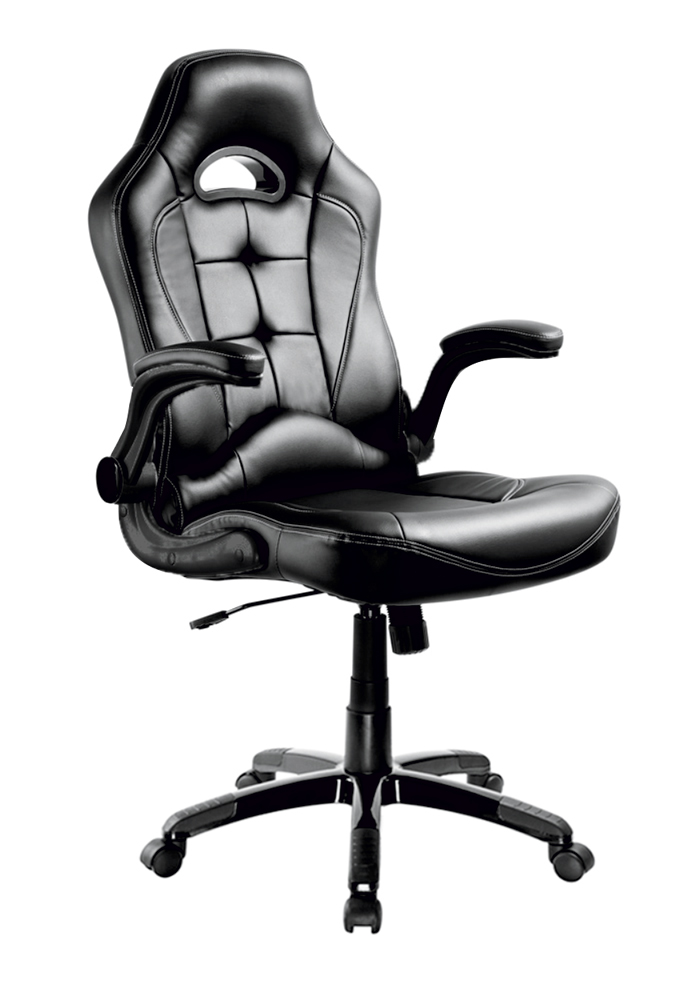 POWERTECH Καρέκλα γραφείου PT-720, ρυθμιζόμενη, με υποβραχιόνια, μαύρη - POWERTECH 23468