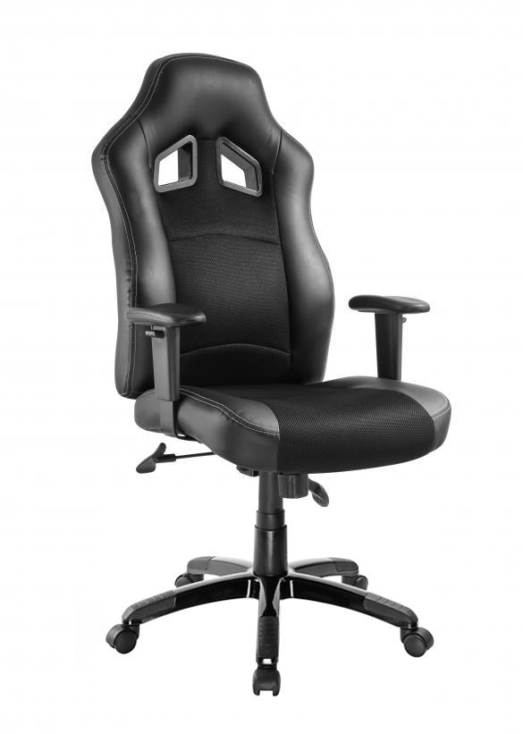 POWERTECH Καρέκλα γραφείου PT-722, ρυθμιζόμενη, με υποβραχιόνια, μαύρη - POWERTECH 23478