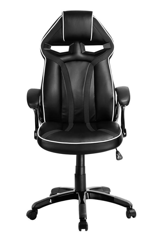 POWERTECH Καρέκλα γραφείου PT-723, ρυθμιζόμενη, με υποβραχιόνια, μαύρη - POWERTECH 23479