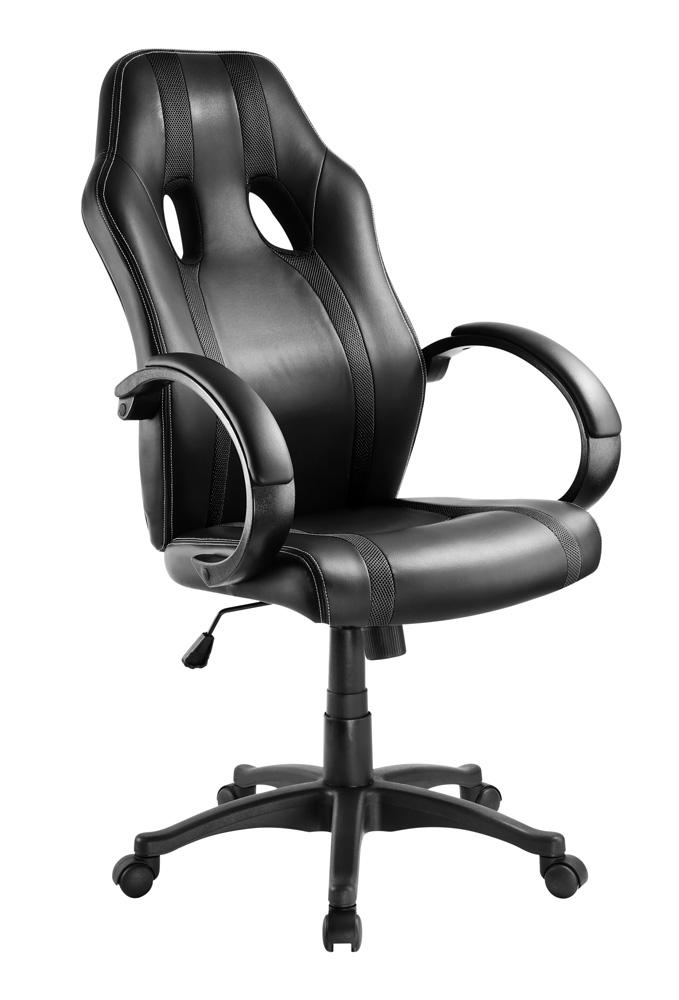 POWERTECH Καρέκλα γραφείου PT-724, ρυθμιζόμενη, με υποβραχιόνια, μαύρη - POWERTECH 23469