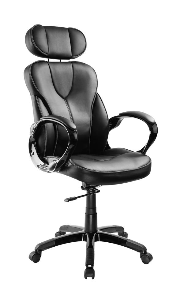 POWERTECH Καρέκλα γραφείου PT-725, ρυθμιζόμενη, με υποβραχιόνια, μαύρη - POWERTECH 23470