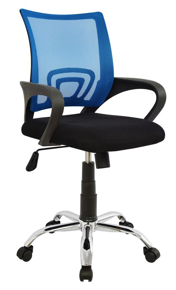 POWERTECH Καρέκλα γραφείου PT-727, ρυθμιζόμενη, με υποβραχιόνια, μπλε - POWERTECH 23472