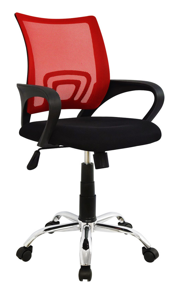 POWERTECH Καρέκλα γραφείου PT-728, ρυθμιζόμενη, με υποβραχιόνια, κόκκινη - POWERTECH 23473