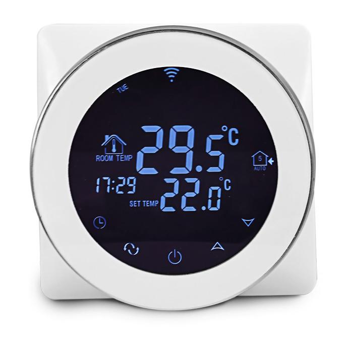 POWERTECH Έξυπνος θερμοστάτης καλοριφέρ PT-783 WiFi, ξηράς επαφής, touch - POWERTECH 27681