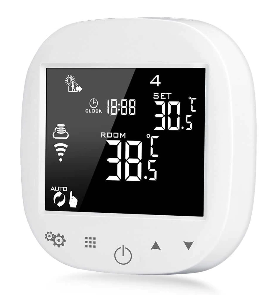 POWERTECH Έξυπνος θερμοστάτης καλοριφέρ PT-786, WiFi, touch screen - POWERTECH 27684
