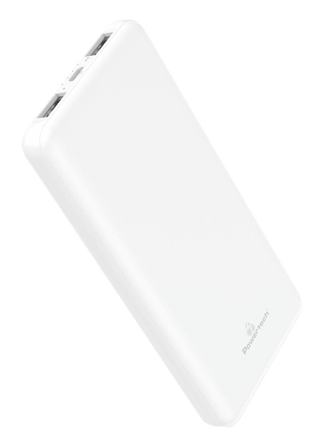 POWERTECH Power Bank PT-804 10000mAh, 2x USB Output, 2.1A, λευκό - POWERTECH 30416