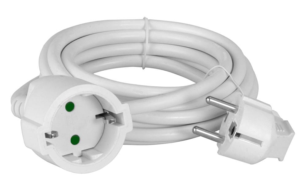 POWERTECH μπαλαντέζα ρεύματος PT-891, 1x schuko, 16A, 10m, λευκή - POWERTECH 36689