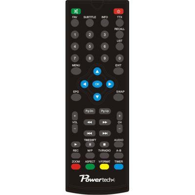 POWERTECH χειριστήριο συμβατό με δέκτη PT-MPEG4-HD2 μπλε συσκευασία - POWERTECH 1290