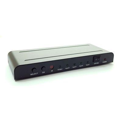 POWERTECH Premium Quality HDMI 1.4 Switch 4x input με PIP, 4K x 2K - POWERTECH 15863