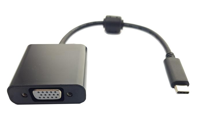 POWERTECH Converter Type-C σε VGA, Premium Quality με ferrites, Black - POWERTECH 15879