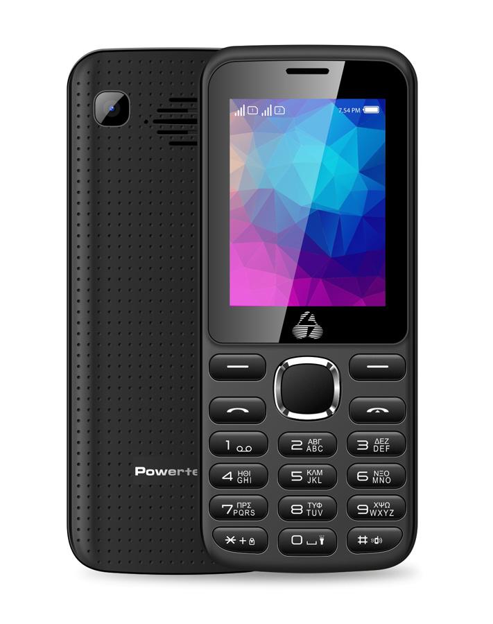 POWERTECH Κινητό Τηλέφωνο PTM-07, Dual Sim, Multimedia, 2800mAh, μαύρο - POWERTECH 18432