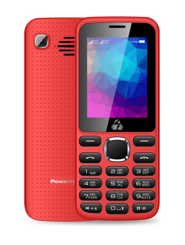 POWERTECH Κινητό Τηλέφωνο PTM-08, Dual Sim, Multimedia, 2800mAh, κόκκινο - POWERTECH 18429