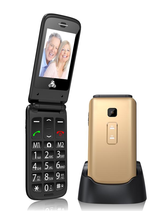 POWERTECH Κινητό Τηλέφωνο Sentry II, SOS Call, Dual Sim, με φακό, Gold - POWERTECH 17872