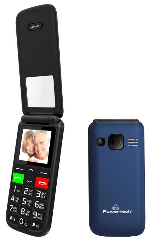 """POWERTECH κινητό τηλέφωνο Sentry Flip Small, 1.77"""", SOS Call, μπλε - POWERTECH 42484"""