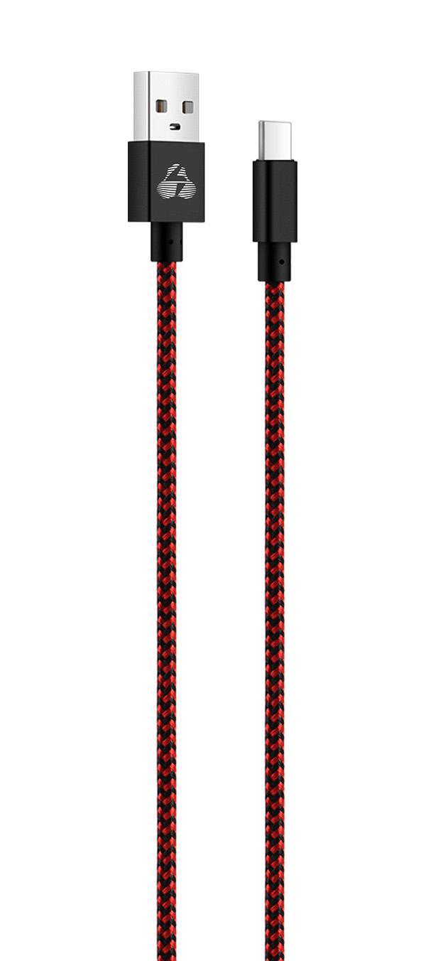 POWERTECH Καλώδιο USB σε Type C eco small PTR-0032 copper, 1m, κόκκινο - POWERTECH 23111