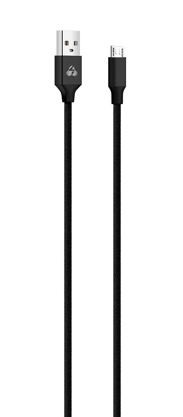 POWERTECH Καλώδιο USB σε Micro USB eco small PTR-0045 copper, 1m, μαύρο - POWERTECH 23089