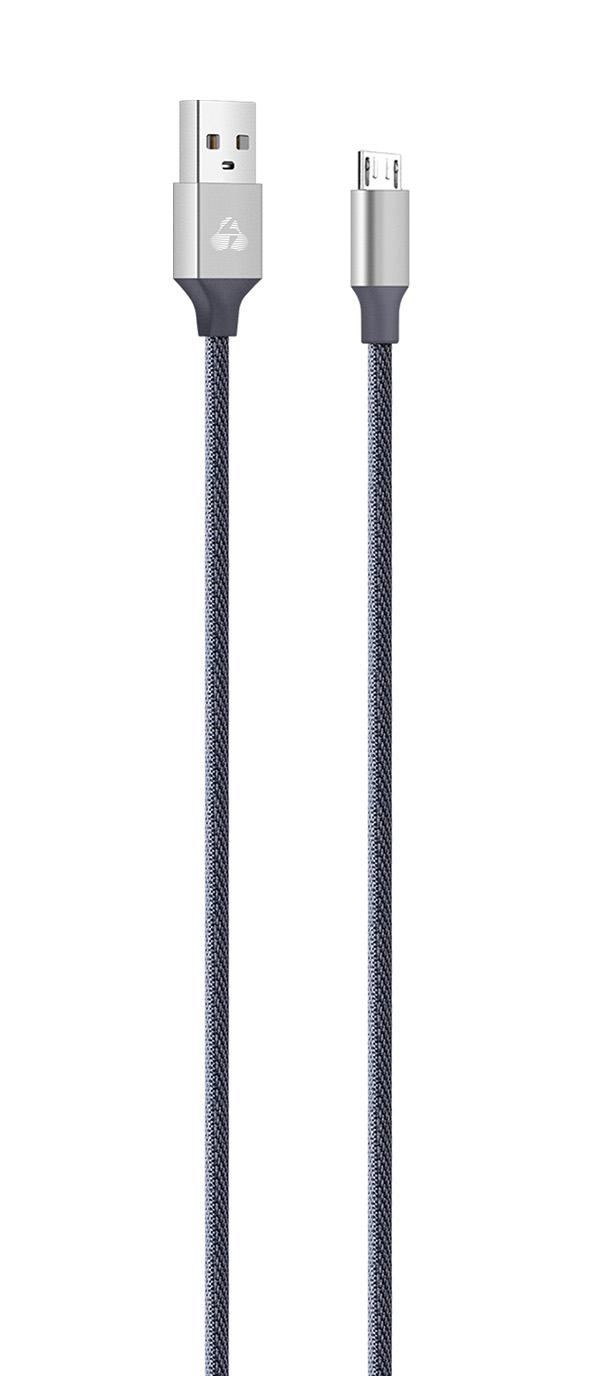 POWERTECH Καλώδιο USB σε Micro USB eco small PTR-0046 copper, 1m, ασημί - POWERTECH 23090