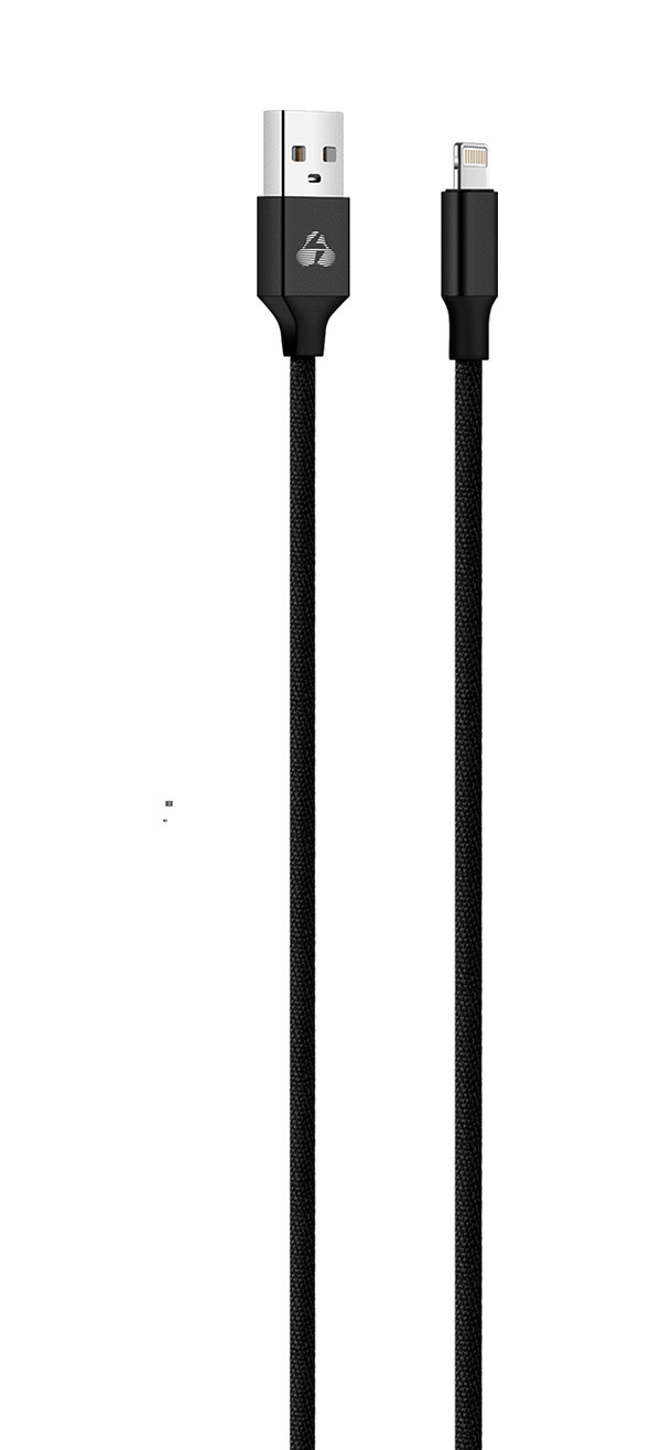 POWERTECH Καλώδιο USB σε Lightning eco small PTR-0048 copper, 1m, μαύρο - POWERTECH 23092
