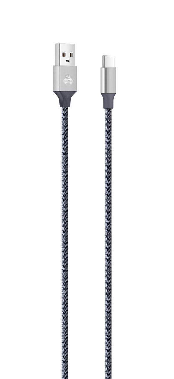 POWERTECH Καλώδιο USB σε Type C eco small PTR-0052 copper, 1m, ασημί - POWERTECH 23096