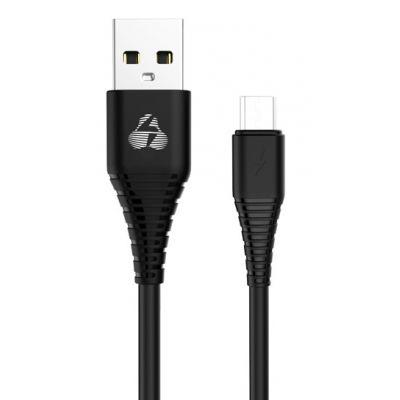POWERTECH Καλώδιο USB σε Micro USB eco PTR-0056 copper, 1m , μαύρο - POWERTECH 23558