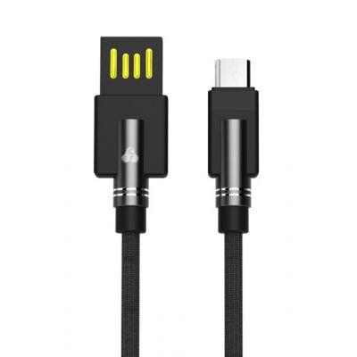 POWERTECH Καλώδιο USB σε Micro USB dual ele PTR-0062 copper, 1m, μαύρο - POWERTECH 23564