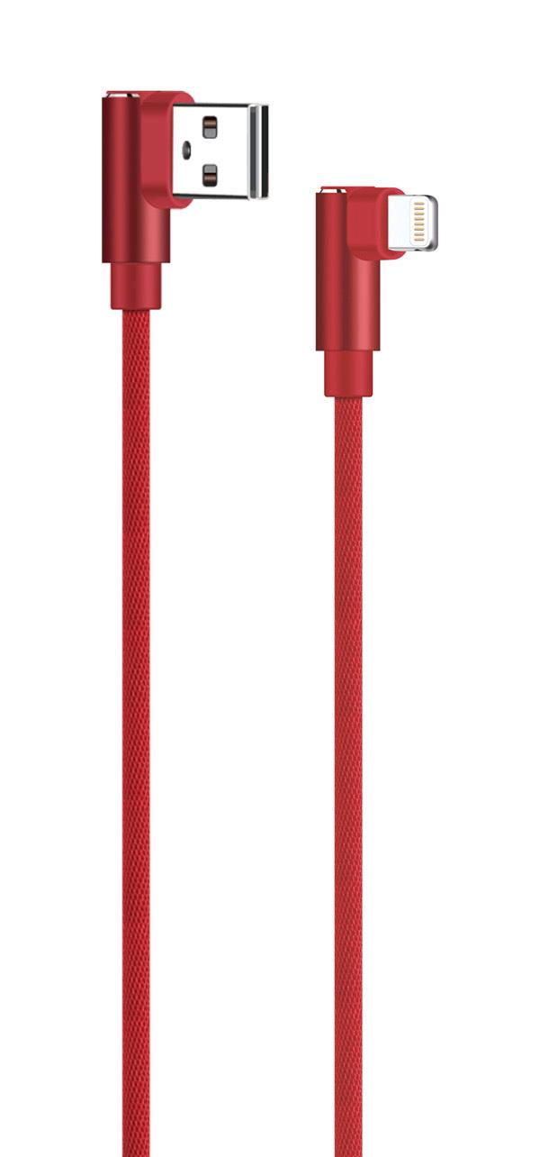 POWERTECH Καλώδιο USB σε Lightning game 90 PTR-0077 copper, 1m, κόκκινο - POWERTECH 23100