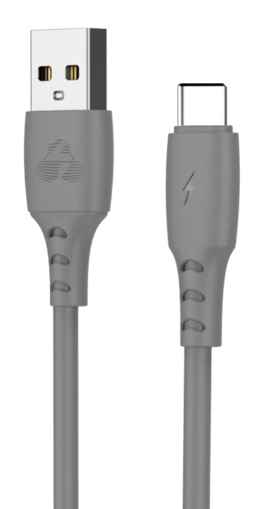 POWERTECH Καλώδιο USB σε USB Type-C eco PTR-0091, copper, 1m, γκρι - POWERTECH 31852
