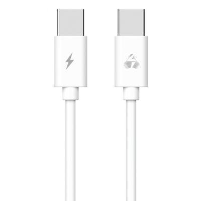 POWERTECH Καλώδιο USB Type-C PTR-0093, 48W 3A, 1m, λευκό - POWERTECH 35896