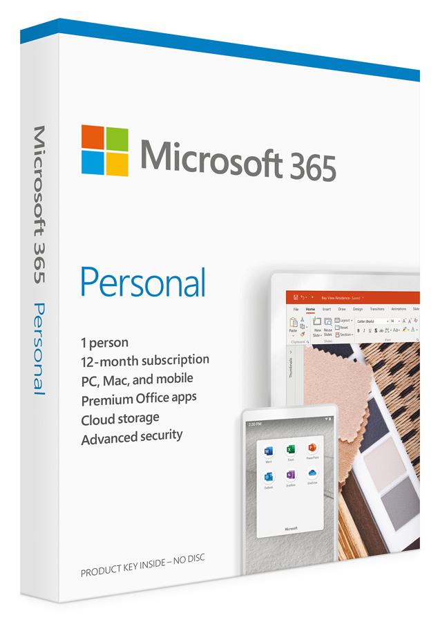 MICROSOFT Office 365 Personal QQ2-00989, English, medialess P6, 1 έτος - MICROSOFT 33926