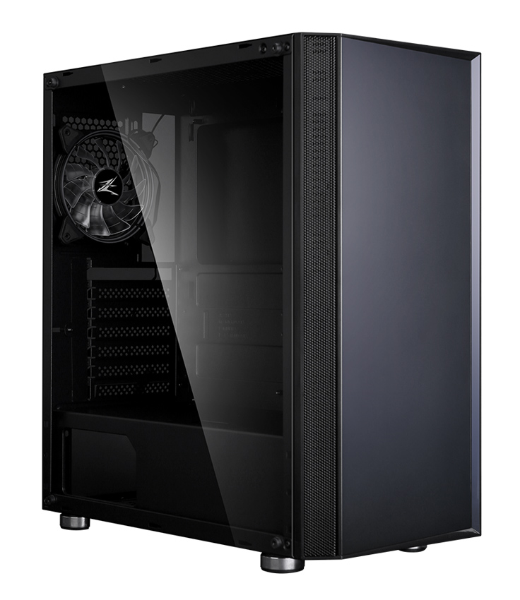 ZALMAN PC case R2 mid tower 420x207x457mm, 1x fan, διάφανο πλαϊνό, μαύρο - ZALMAN 31212