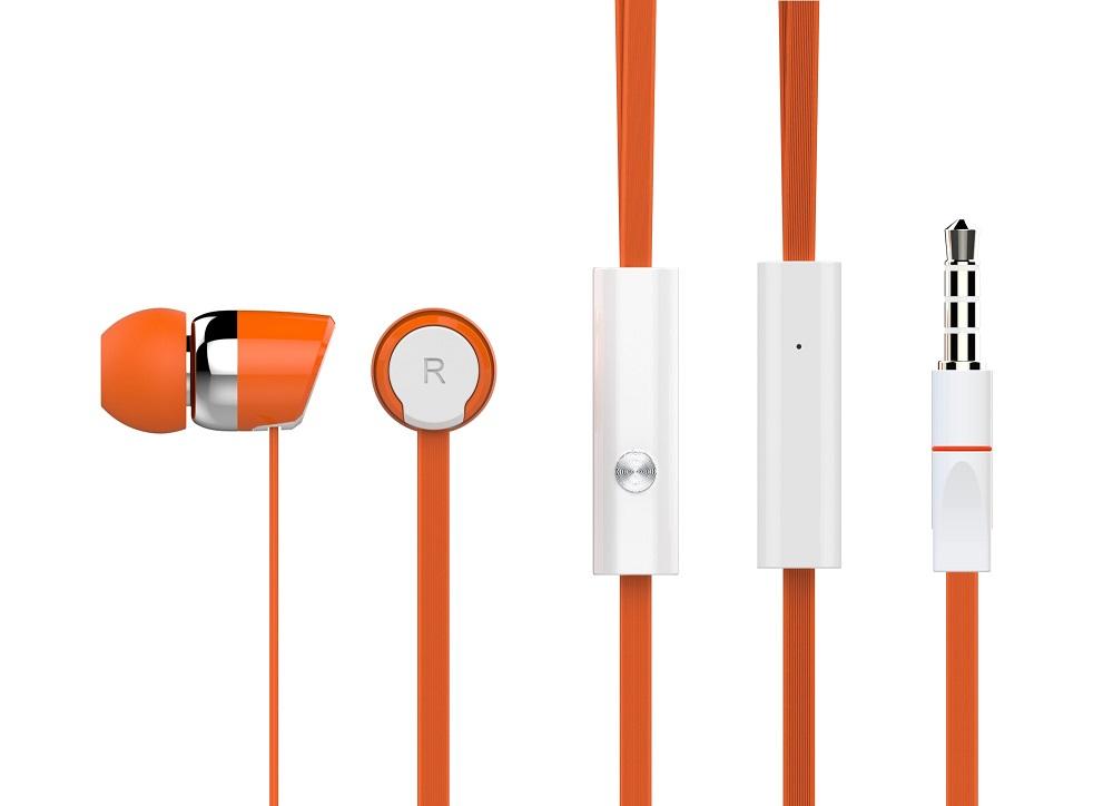 CELEBRAT Ακουστικά Handsfree R20-O, On-Off, Orange - CELEBRAT 7098