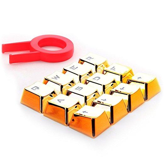 REDRAGON πλήκτρα για Cherry MX μηχανικό πληκτρολόγιο A103, 12τμχ, χρυσά - REDRAGON 18113