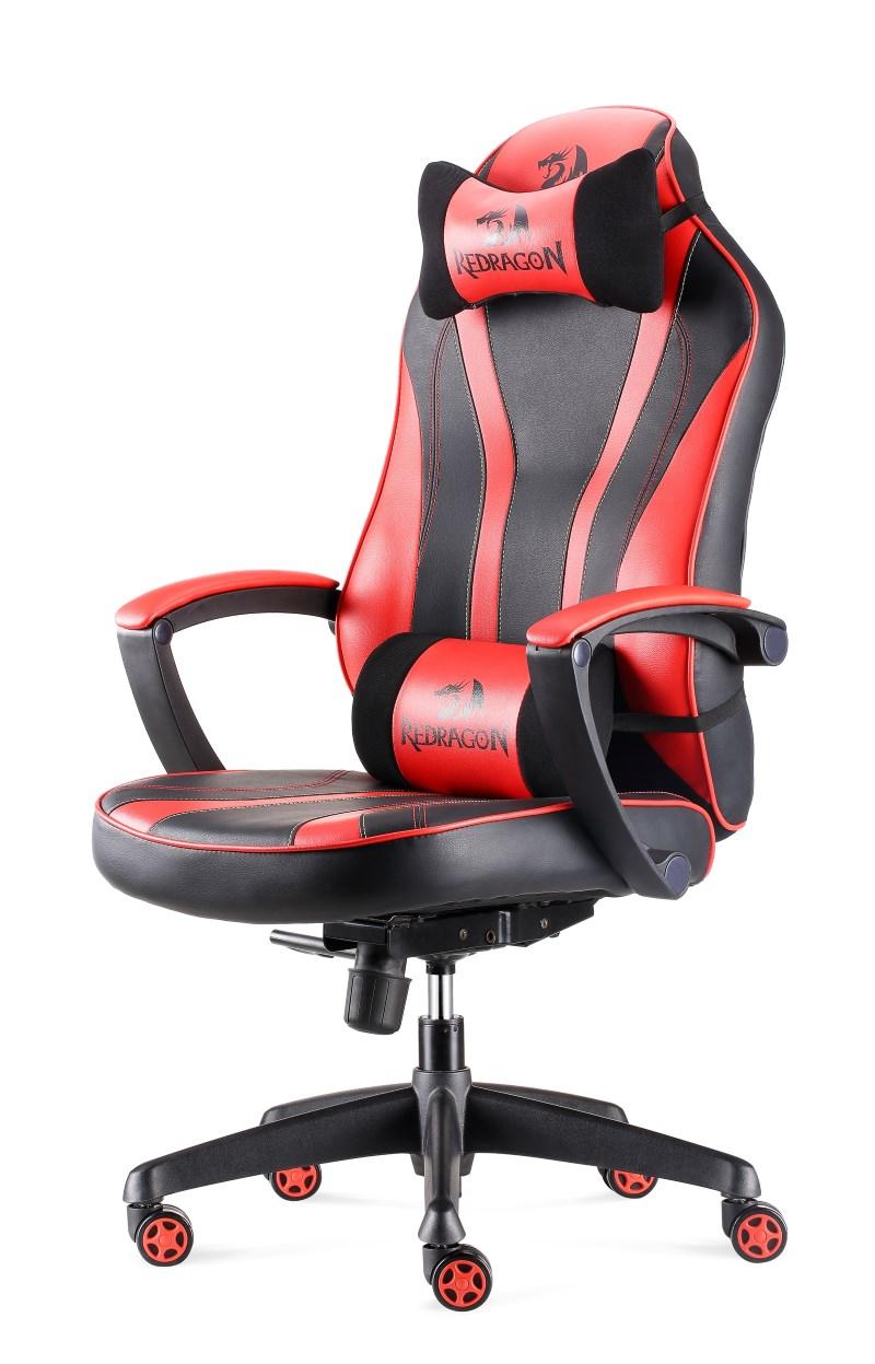 REDRAGON Gaming Καρέκλα C101 Metis, Εργονομική, μαύρη-κόκκινη - REDRAGON 18112