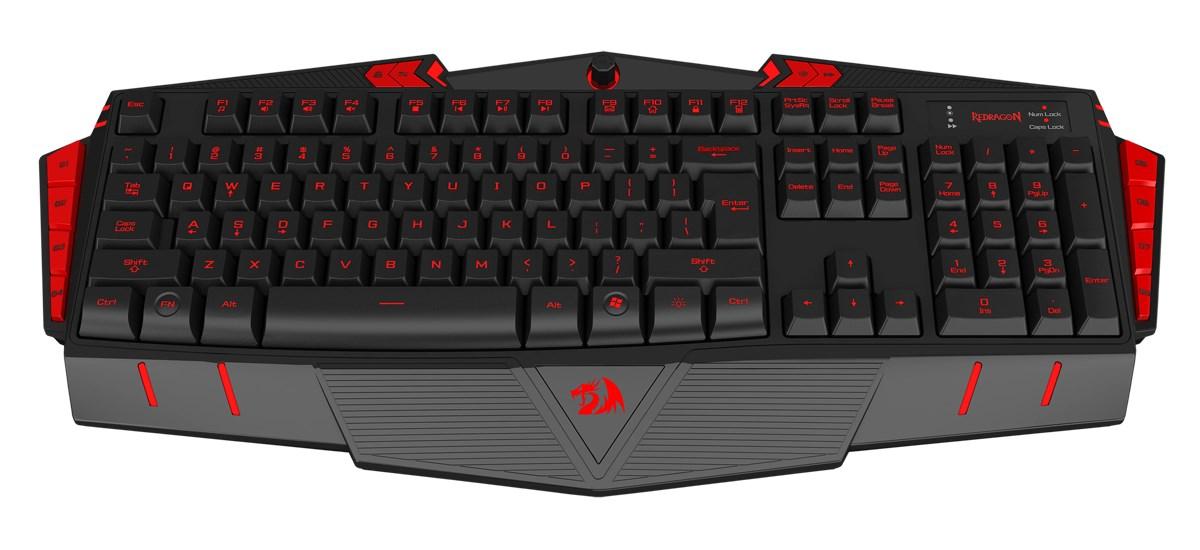 REDRAGON ενσύρματο Gaming πληκτρολόγιο K501B Asura, illuminated, μαύρο - REDRAGON 18101