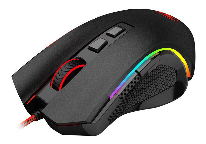 REDRAGON Ενσύρματο Gaming ποντίκι Griffin, 8 πλήκτρα, 7200DPI, μαύρο - REDRAGON 23147