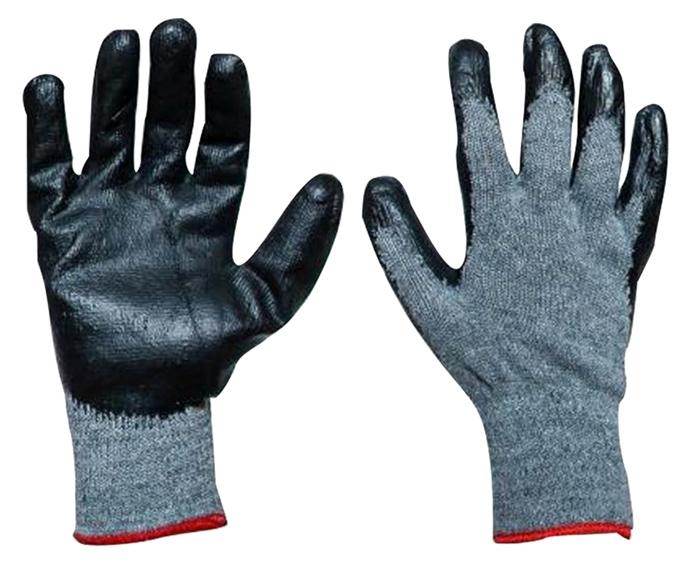 Αντιολισθητικά γάντια εργασίας Ecogloves REK2, γκρι-μαύρο - UNBRANDED 41737
