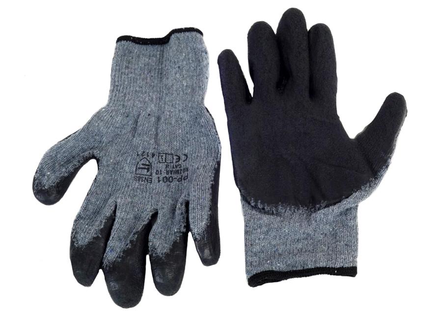 AMIO Αντιολισθητικά γάντια εργασίας DRAGON REK8, γκρι-μαύρο - AMIO 38167