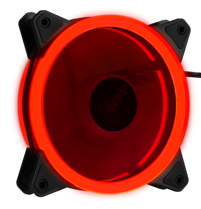 AEROCOOL LED ανεμιστήρας REV, 120mm, κόκκινο - AEROCOOL 43097